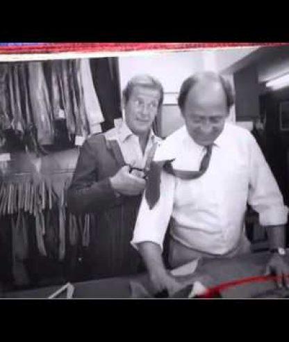 Roger Moore & Michael Caine on James Bond Suits